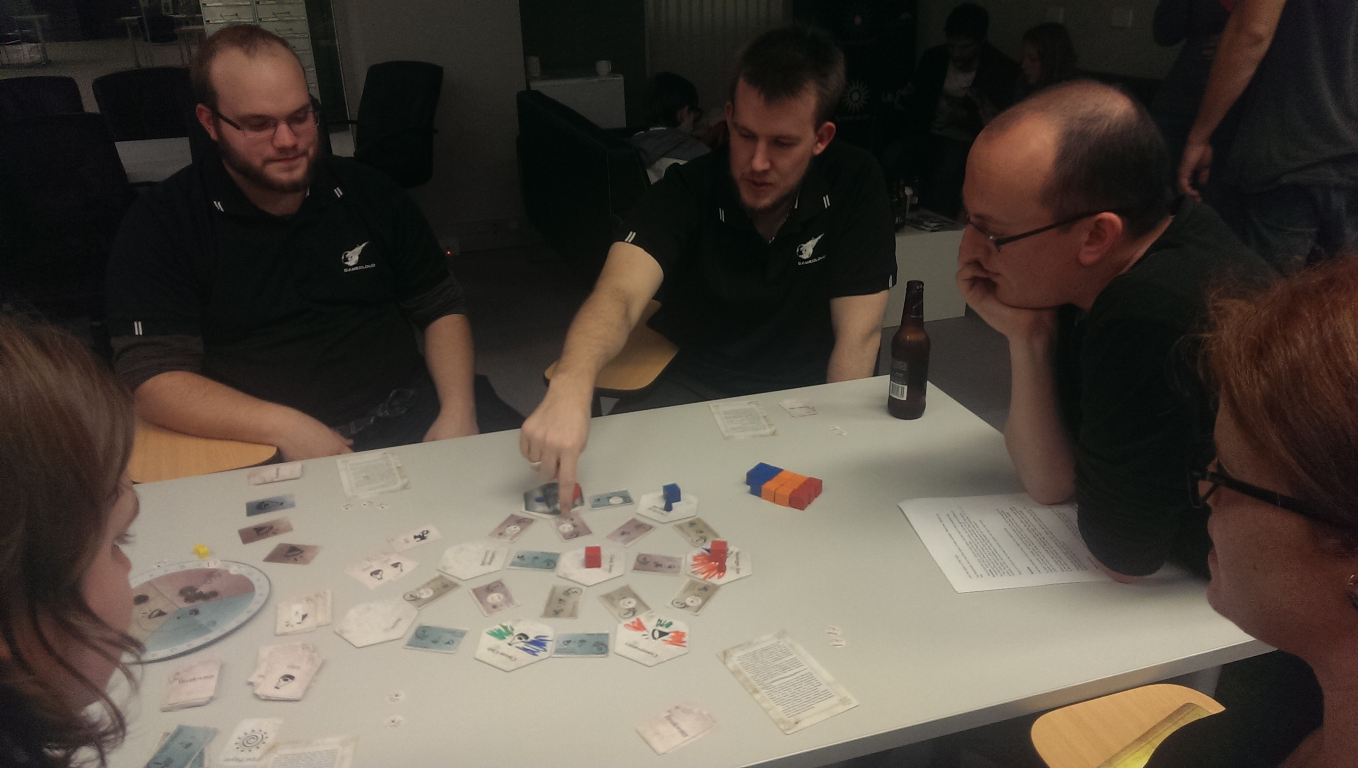 Playtesters giving Breakwater a go